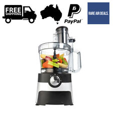 2L Food Processor Chopper 700W 2 Speed Pulse Function Slicing Smoothie Wide Slot