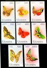 UGANDA 1994 tropical BUTTERFLIES sc#1222-29  MNH INSECTS