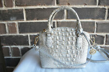 Brahmin Melbourne Collection DUXIE Crossbody Bag Purse Sterling Gray S91 151
