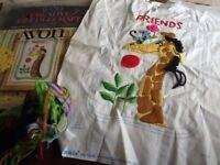 1973 Avon Creative Needlecraft NEW Embroidery Kit FRIENDS Giraffe Mouse Flower