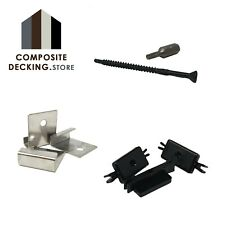 Composite Decking | Hidden Plastic T Fixings | Fasteners Starter Clips | Screws