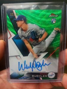 2018 Topps Finest Autographs Green Refractor/99 #FA-WB Walker Buehler Auto Card