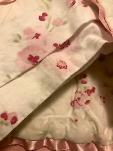 Simply Shabby Chic FULL / QUEEN Reversible Quilt Set Cherry Blossom W/shams  3pc
