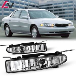 For Buick Century 97-05 Clear Lens Pair Bumper Fog Light Lamp OE Replacement DOT