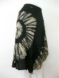 Tie Dye Wrap Around Long Skirt Beach Cover Bohemian Hippie Gypsy Lagenlook WSTD