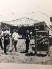 Black & White Photo Circus Big Top Wild Animal Jungle Land Sign