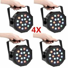 4X18 LED RGB Par CAN DJ Stage DMX Lighting For Disco Party Wedding Uplighting