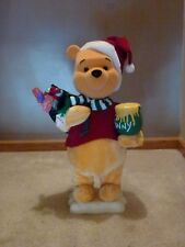 TELCO ANIMATED WINNIE THE POOH CHRISTMAS HOLIDAY DECORATION