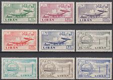 Libanon Lebanon 1958 ** Mi.628/36 Flughafen Airport Flugzeuge Aircraft