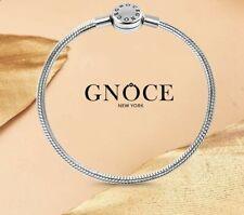 "Genuine GNOCE New York ""Never Fade"" 19cm Metal Snake Chain Charm Bracelet NEW!"