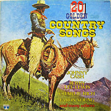 20 GOLDEN COUNTRY SONGS  lp  JOHNNY CASH GLEN CAMPBELL CARL PERKINS BUCK OWENS