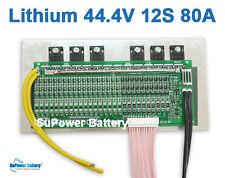 44V 48V 50.4V 12S 80A Lithium ion Li-ion LiPo Li-Polymer Battery BMS PCB System