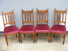 4 Solid Oak antique Kitchen / Dining chairs