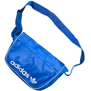 Adidas Mens Messenger Bag Shoulder Blue Trefoil Spell Out AA 05