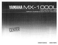 Yamaha MX-1000-U Amplifier Owners Manual