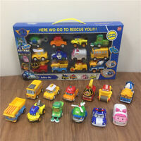 12pcs Robocar Poli Mini Toy Car Metal Diecast Model Vehicle Kid Boy Collect Gift