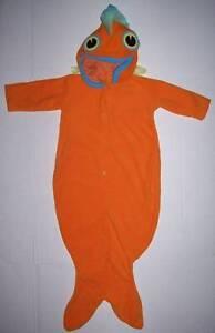 POTTERY BARN KIDS PBK GOLDFISH BABY COSTUME 6 9 12 MO HALLOWEEN