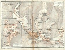 Carta geografica antica VOLTERRA S.GIMIGNANO Pianta TCI 1923 Old antique map