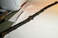 Nice Antique Knotty Tree Wood Walking Stick With Solid Brass Top 3 Foot Long
