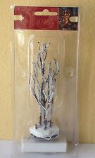 Miniature Garden CHRISTMAS Tree Frost Village Putz ~ Snow Branches w LED Light