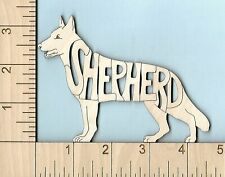 German Shepherd Dog laser cut wood Magnet Great Gift Idea