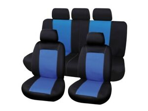 housse couvre siège 9 pcs classique noir bleu airbag auto voiture tuning