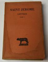 Vintage 1949 French Book Saint Jerome Lettres Volume I