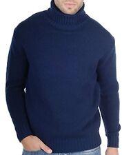 Balldiri 100% Cashmere Rollkragen Pullover 10-fädig dunkelblau XXL