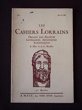 Les cahiers lorrains - N°3 1938
