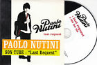 """CD CARTONNE CARDSLEEVE 2T PAOLO NUTINI """"LAST REQUEST """"2006 FRENCH STICK"""