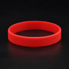 6 Colors Unisex Sport Silicone Rubber Bracelet Rubber Wristband Men Women