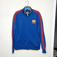 Mens Nike FCB Barcelona Blue Jacket Size Large Track Soccer