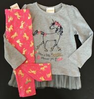 Gymboree Girls Unicorn Sparkle Tee & Leggings Size 2T 3T NWT NEW