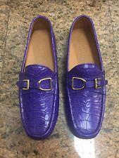 Ralph Lauren RL Genuine Crocodile Purple Driving Shoes NIB