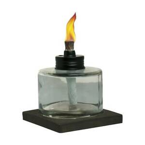 TIKI 4.5-in Mixed Material Votive Glass Tabletop Torch