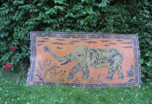 Retro BOHO Ethnic African Elephant Woven Tapestry Rug Outdoor Garden Beach Mat