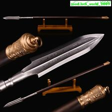 Boutique Chinese Sword Spear Pattern Steel Handmade Battle Ready Sharp Blade