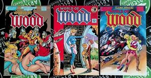 World of Wood #1, 2 & 5 1986 Eclipse Comics Wallace Wood Dave Stevens RARE
