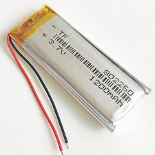 3.7V LiPo Rechargeable Battery 1200mAh For DVD speaker recorder camera 802260