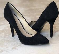 Womens Black Pumps Size 7 Suede High Heels