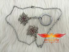 Vampire Knight Yuki Cross Alloy Necklace With Key Chain Cospaly Accessories