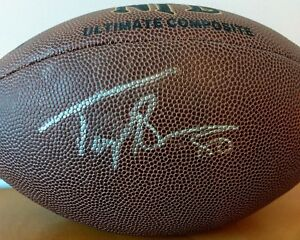 Troy Brown Signed New England Patriots NFL Football Wilson Auto Super Bowl