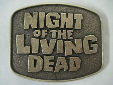 NIGHT OF THE LIVING DEAD MOVIE METAL BELT BUCKLE RETRO 1970'S ZOMBIES