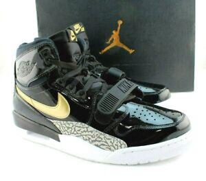 JORDAN Legacy 312 Size 11.5 Black / Metallic Gold Fashion Men Sneaker MSRP $150