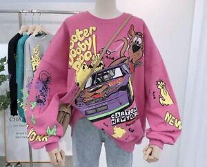 Pink Scooby Doo Cartoon Sweatshirt