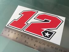 Maverick Vinales Number 12 Sticker / Decal - 150mm x 75mm