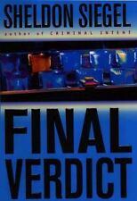 FINAL VERDICT Sheldon Siegel 1st 2003 Mystery Legal Thriller Hardcover & Jacket