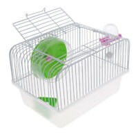 Large Cage for Hamster, Mouse or Gerbil with Heel Feeders Kettle Green