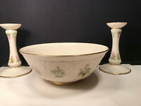 """VINTAGE LENOX ''THE CONSTITUTION""""  BOWL WITH PAIR OF CANDLESTICKS SET LIMITED"""