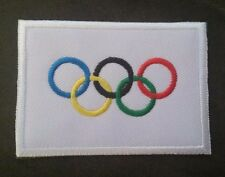 """""""OLYMPIC FLAG"""" Embroidered Patch GAMES RINGS Iron On"""